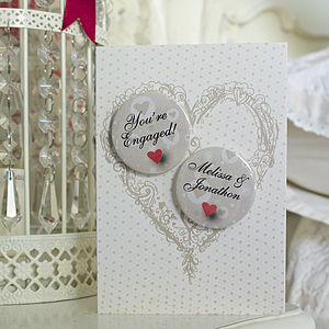 Personalised Mini Magnets Engagement Card - shop by category