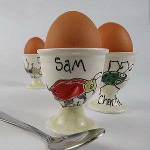 Personalised Ceramic Egg Cup