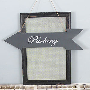 'Parking' Metal Arrow Sign - outdoor decorations