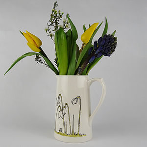 Hand Painted Personalised Snowdrop Jug - tableware