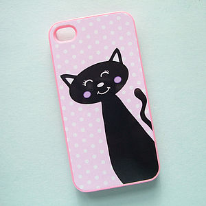 Cat Design Iphone Cover - women's accessories