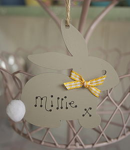 Easter Bunny Hanging Decoration - signs
