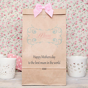 Personalised 'Mum' Gift Bag - ribbon & wrap