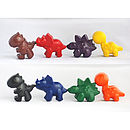Set Of Eight Dinosaur Crayons