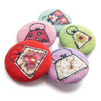 Handbag Design Embroidered Pin Badge