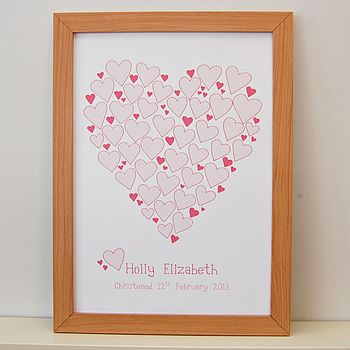 Personalised Heart Signature Poster