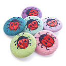 Ladybird Freehand Embroidered Silk Pin Badge