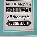 Personalised Follow Your Heart Location Print