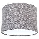 Medium Grey Herringbone Harris Tweed Lampshade
