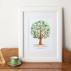 Personalised Fingerprint Tree - paintings & canvases