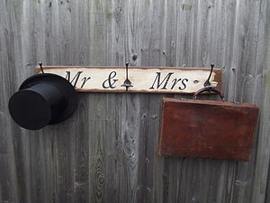 'Mr And Mrs' Hook Board - furnishings & fittings