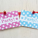 Star Design Party Invites