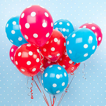 Pack Of Six Spotty Balloons