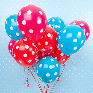 Pack Of Six Spotty Balloons - winter sale