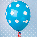 Blue Spotty Balloon