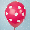 Pink Spotty Balloon