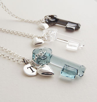 Key To Your Heart Crystal Necklace