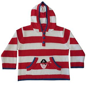Hand Knit Pirate Jumper With Hood - jumpers & cardigans