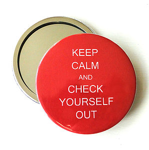 Personalised 'Keep Calm' Compact Mirror - beauty & pampering