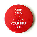 Personalised 'Keep Calm' Compact Mirror