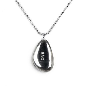 'Love' Pebble Necklace