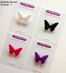 Butterfly Brooch Various Colours & Designs