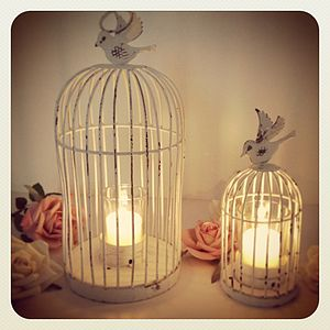 Bird Cage Tea Light Holder - table decorations