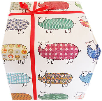 Colourful Sheep Wrapping Paper