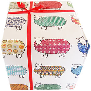 Colourful Sheep Wrapping Paper - ribbon & wrap