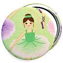 'Ballerina' Girls Birthday Gift Pocket Mirror
