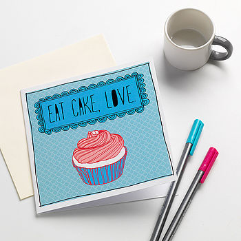 'Eat Cake Love' Card