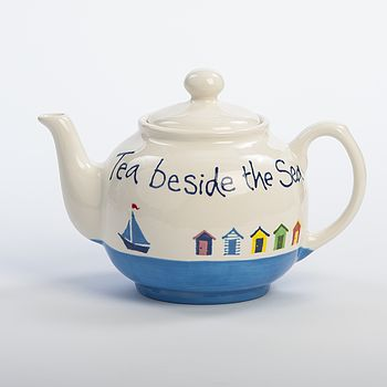 Personalised Hand Painted Beach Hut Teapot
