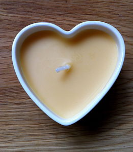 Vanilla Bone China Heart Candle - candles & candle holders