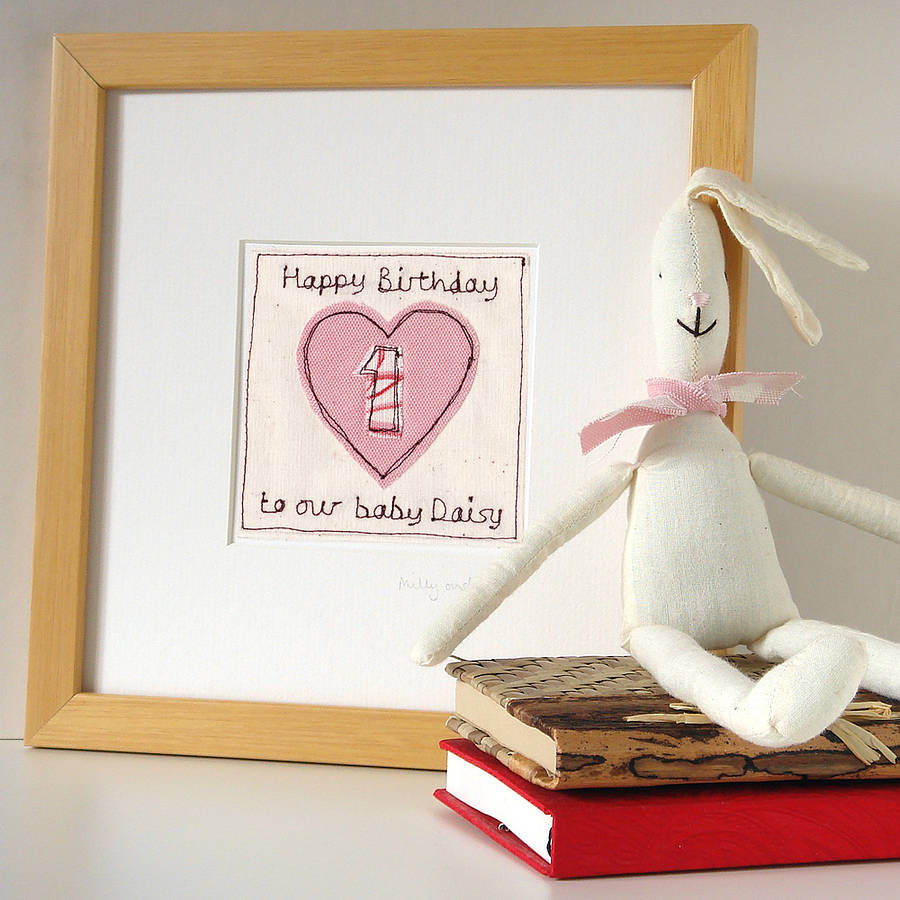 personalised heart age birthday card by milly and pip – 1st Birthday Card