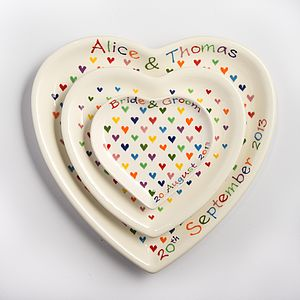 Personalised Hand Painted Heart Shaped Plate