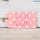 'Best Mum' Or 'Lovely Mum' Gift Tag