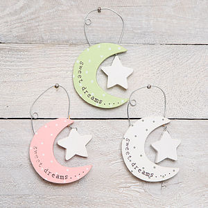 Moon And Star Hanging Decoration - baby's room