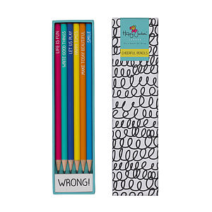 A Pack Of Six Colouring Pencils With Eraser