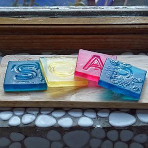 Personalised Letter Soap Tile - bath & body