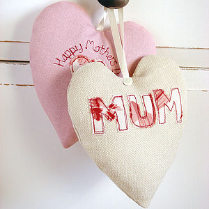Personalised Mother's Day Heart - hanging decorations