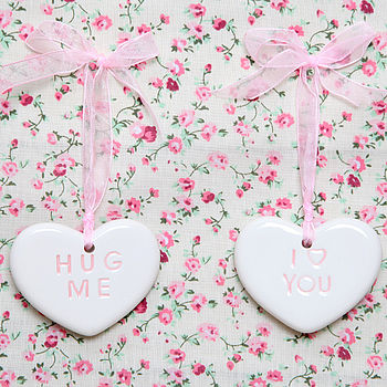 Ceramic Hanging Heart Decoration