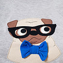 Spectacled Pug T Shirt