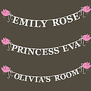 Personalised Bird's Nest Tree Wall Stickers