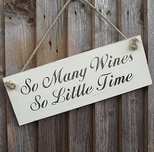 'So Many Wines' Sign - home accessories