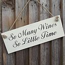 'So Many Wines' Sign