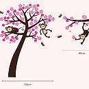 Monkey Blossom Tree Wall Stickers