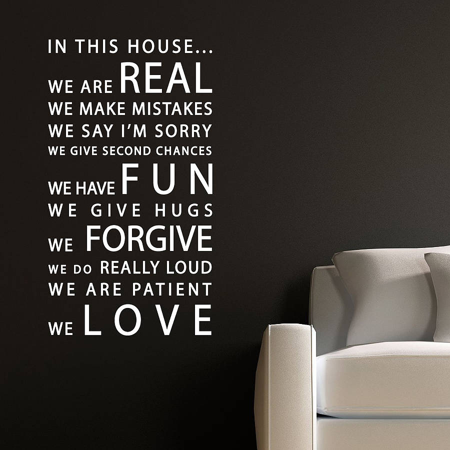 High Quality In This House Wall Sticker Part 4