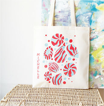 Personalised Sea Shell Shopper Tote Bag