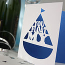 'You Float My Boat' Card