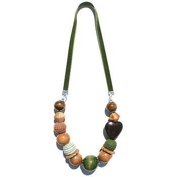 Olive Velvet Necklace